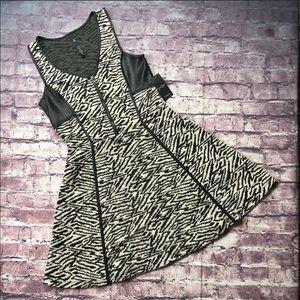 NEW Jessica Simpson black zebra sleeveless dress